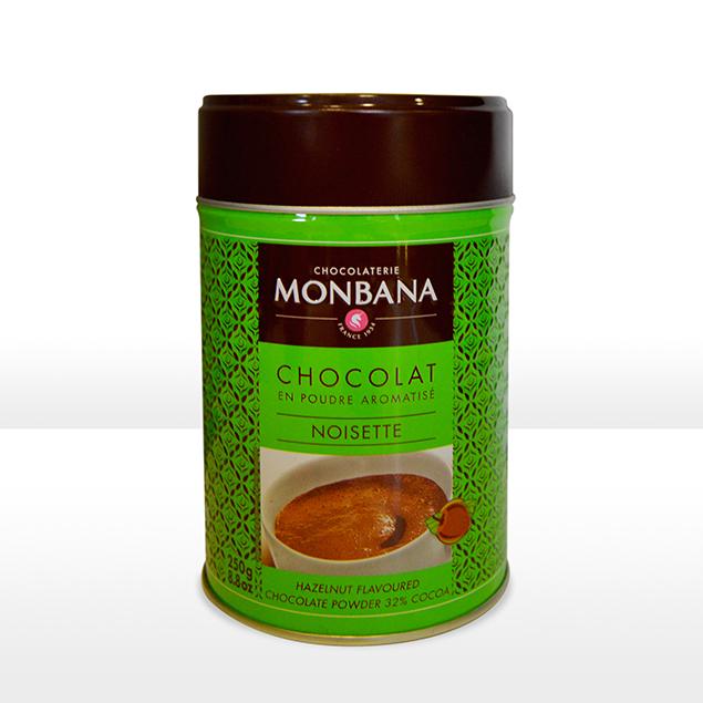 monbana chocolat en poudre aromatise noisette carpe diem caf boutique. Black Bedroom Furniture Sets. Home Design Ideas